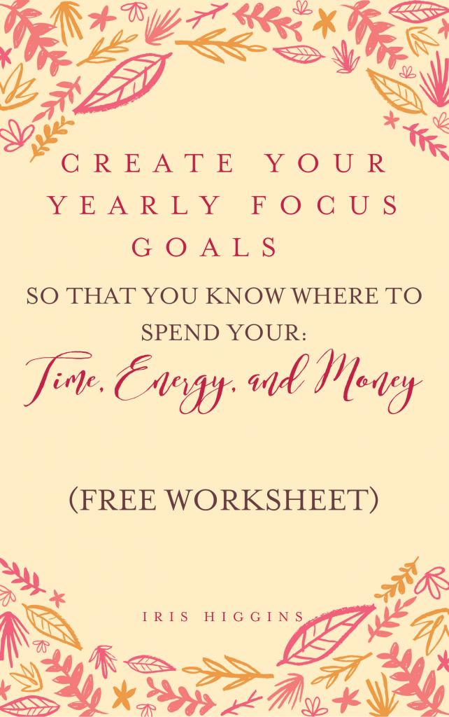 Focus Goals Worksheet