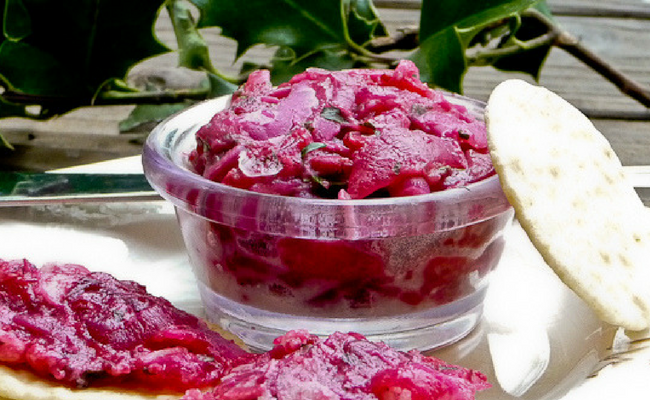 caramelized onion cranberry spread
