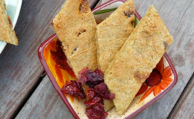 Cranberry Cinnamon Flatbread (Gluten/Grain/Dairy/Egg/Soy/Nut/Refined Sugar Free)