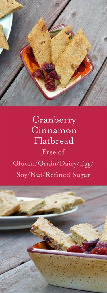 Cranberry Cinnamon Flatbread (Gluten/Grain/Soy/Nut Free & Vegan)